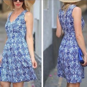 Milly blue white floral Banvin dress